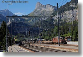 europe, horizontal, kandersteg, scenics, switzerland, trains, photograph