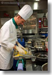 cooks, emotions, europe, happy, kandersteg, men, pasta, people, smiles, switzerland, vertical, wald hotel doldenhorn, photograph