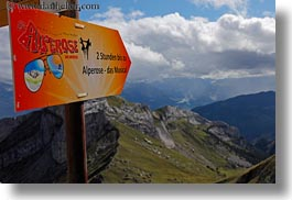 alperose, clouds, europe, horizontal, lucerne, mt pilatus, nature, signs, sky, switzerland, photograph