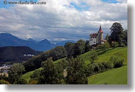 castles, clouds, europe, hillside, horizontal, lucerne, mt pilatus, nature, sky, switzerland, photograph