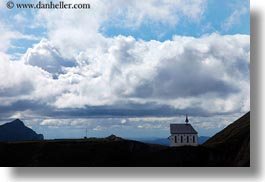 churches, clouds, europe, horizontal, lucerne, mountains, mt pilatus, nature, sky, switzerland, photograph