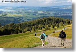 europe, hikers, horizontal, landscapes, lucerne, mt pilatus, switzerland, photograph