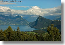 clouds, europe, horizontal, lakes, lucerne, mountains, mt pilatus, nature, sky, switzerland, photograph