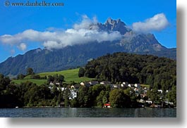 clouds, europe, horizontal, lakes, lucerne, mountains, mt pilatus, nature, pilatus, sky, switzerland, photograph