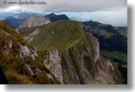 clouds, europe, horizontal, lucerne, mt pilatus, nature, sky, switzerland, valley, views, photograph