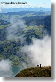 clouds, europe, fog, hikers, hiking, lucerne, mt rigi, nature, people, sky, switzerland, uphill, vertical, photograph