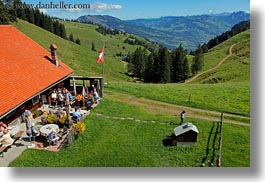 europe, horizontal, houses, lucerne, mt rigi, scenics, switzerland, photograph