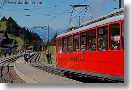 bahn, europe, horizontal, lucerne, mt rigi, rigi, switzerland, trains, photograph