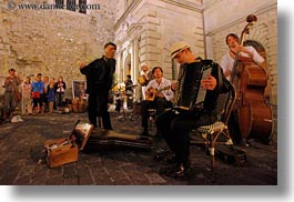artists, europe, horizontal, lucerne, men, musicians, people, quartet, slow exposure, switzerland, photograph