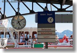 clocks, europe, horizontal, lucerne, signs, switzerland, weggis, photograph