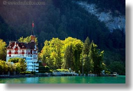 europe, horizontal, houses, lakes, lucerne, switzerland, weggis, photograph