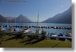 boats, europe, harbor, horizontal, switzerland, photograph