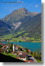 europe, lungern, mountains, rivers, switzerland, vertical, photograph