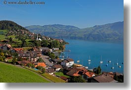 europe, harbor, horizontal, switzerland, towns, photograph