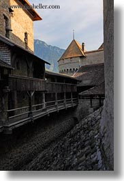 castles, chateau de chillon, europe, interiors, montreaux, switzerland, vertical, photograph