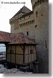 castles, chateau de chillon, chillon, entry, europe, montreaux, switzerland, vertical, photograph