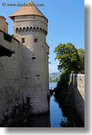 castles, chateau de chillon, chillon, europe, fishermen, montreaux, switzerland, vertical, photograph