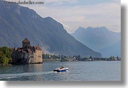 castles, chateau de chillon, chillon, europe, geneva, horizontal, lakes, montreaux, switzerland, photograph