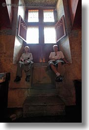 chateau de chillon, couples, europe, montreaux, switzerland, vertical, windows, photograph
