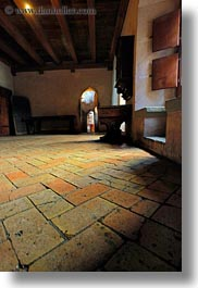chateau de chillon, europe, floors, montreaux, switzerland, terracotta, tiles, vertical, photograph