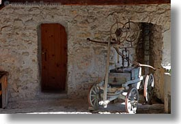 carts, chateau de chillon, europe, horizontal, montreaux, switzerland, wheeled, photograph