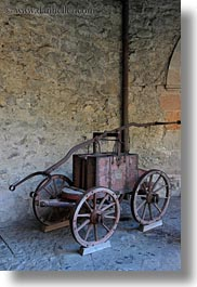 carts, chateau de chillon, europe, montreaux, switzerland, vertical, wheeled, photograph