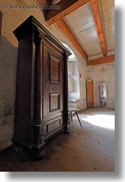cabinet, chateau de chillon, europe, montreaux, switzerland, vertical, woods, photograph