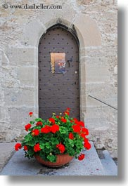 doors, europe, flowers, montreaux, slow exposure, switzerland, vertical, photograph