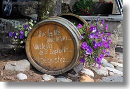 barrels, europe, flowers, horizontal, montreaux, switzerland, photograph