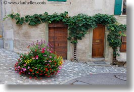 europe, flowers, horizontal, montreaux, streets, switzerland, photograph