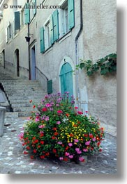 europe, flowers, montreaux, streets, switzerland, vertical, photograph