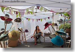 europe, hats, horizontal, montreaux, switzerland, tents, vendors, photograph