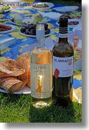 europe, montreaux, picnic, setting, switzerland, vertical, wines, photograph