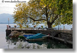 boats, europe, harbor, horizontal, montreaux, small, switzerland, photograph