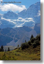 big, clouds, europe, hikers, mountains, murren, nature, sky, snowcaps, switzerland, vertical, views, photograph