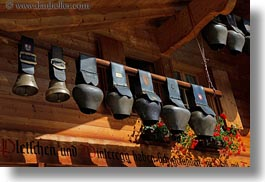 bells, cows, europe, horizontal, houses, murren, switzerland, photograph