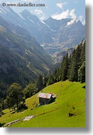 clouds, europe, houses, mountains, murren, nature, scenics, sky, snowcaps, switzerland, vertical, photograph