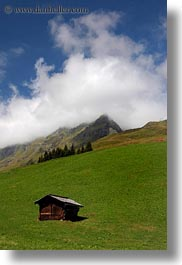 clouds, europe, houses, mountains, murren, nature, scenics, sky, switzerland, vertical, photograph