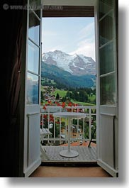 europe, meyers hotel, mountains, switzerland, vertical, wengen, windows, photograph