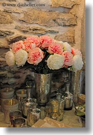 europe, meyers hotel, pink, roses, switzerland, vertical, wengen, white, photograph