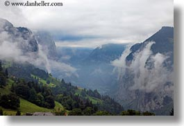 clouds, europe, foggy, horizontal, nature, sky, switzerland, valley, wengen, photograph
