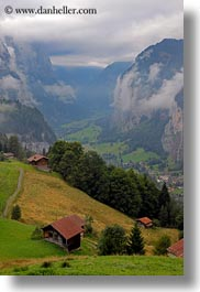 clouds, europe, foggy, nature, sky, switzerland, valley, vertical, wengen, photograph