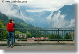 clouds, europe, horizontal, nature, people, photographing, sky, switzerland, valley, wengen, womens, photograph