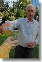 david, emotions, europe, men, people, pouring, senior citizen, smiles, switzerland, vertical, wines, wt people, photograph