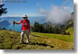 emotions, europe, hikers, hiking, horizontal, jane, people, smiles, steinberg, switzerland, womens, wt people, photograph
