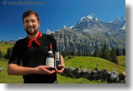 emotions, europe, happy, hikers, horizontal, men, mountains, nature, people, roberts, smiles, snowcaps, switzerland, wines, wt people, photograph