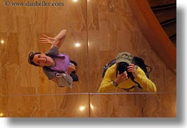 ceilings, europe, horizontal, mirrors, people, reflections, switzerland, vicky, womens, wt people, photograph
