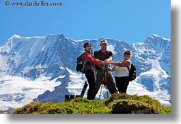 emotions, europe, happy, horizontal, jane, men, mountains, nature, people, roberts, smiles, snowcaps, switzerland, victoria, womens, wt people, photograph