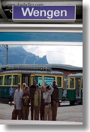 emotions, europe, groups, happy, hikers, people, smiles, switzerland, tourists, vertical, wengen, wt people, photograph