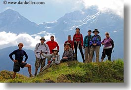 clouds, emotions, europe, groups, happy, hikers, horizontal, men, mountains, nature, people, sky, smiles, snowcaps, switzerland, tourists, wilderness, womens, wt people, photograph